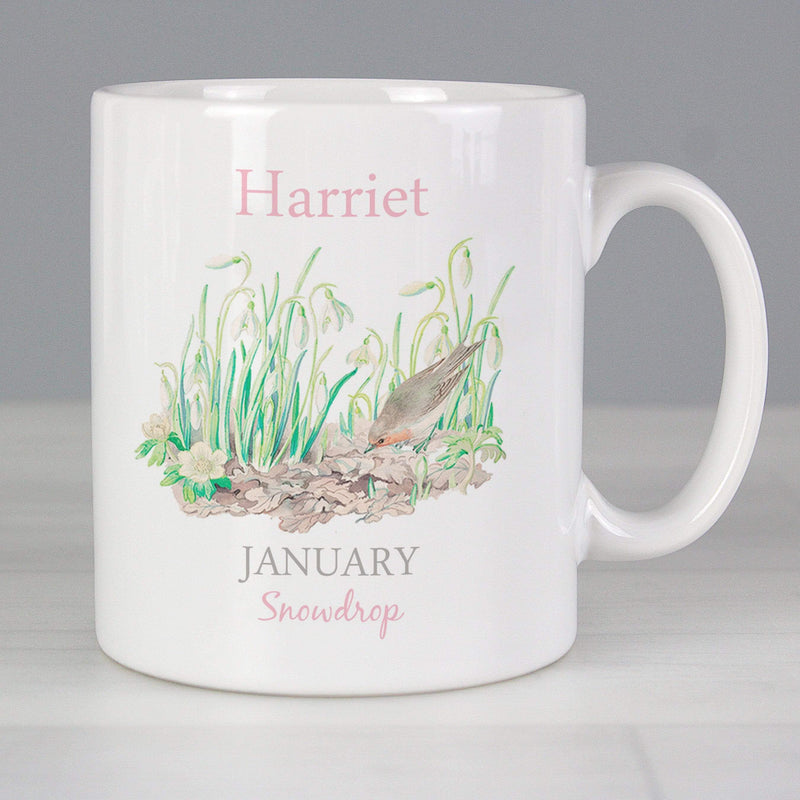 Personalised Country Diary January Mug - The Personal Shop
