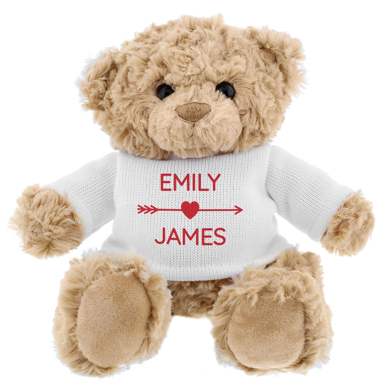 Personalised Couple In Love Teddy Bear - The Personal Shop