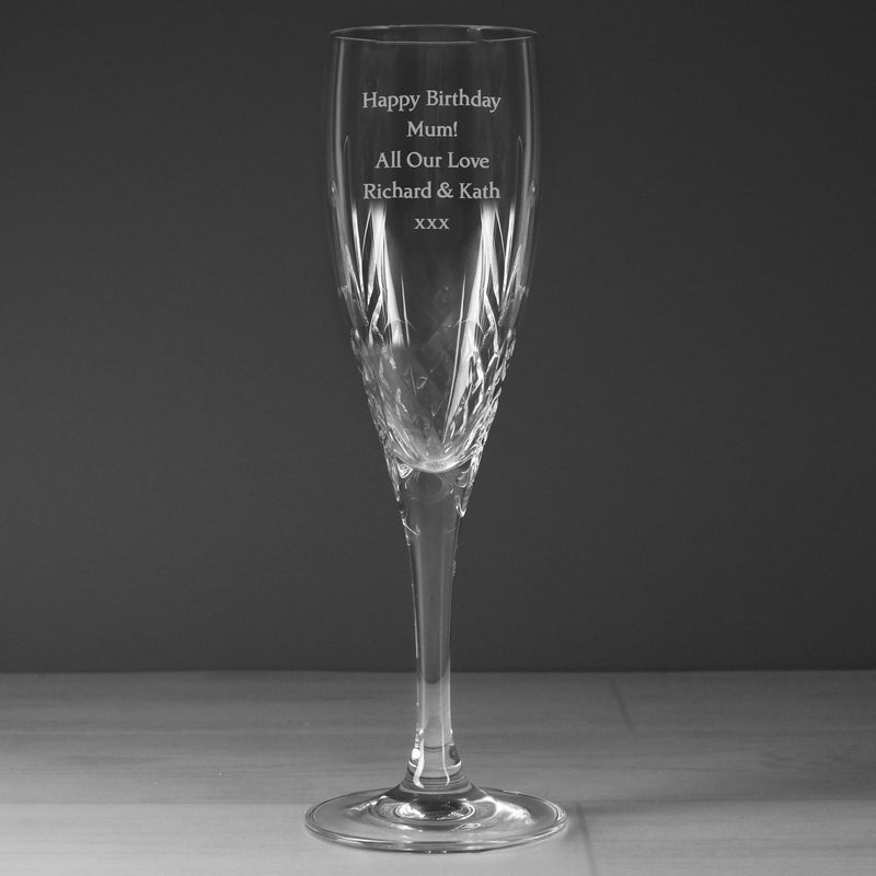 Personalised Cut Crystal Champagne Flute - The Personal Shop