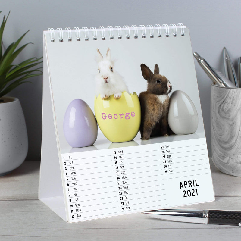 Personalised Cute Animals Desk Calendar - The Personal Shop