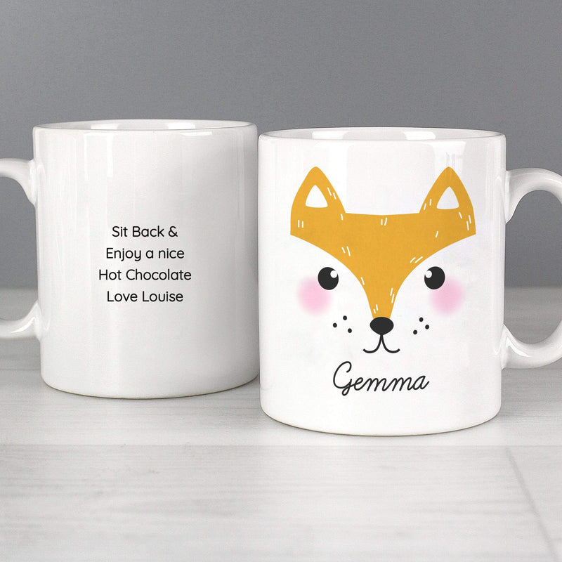 Personalised Cute Fox Face Mug - The Personal Shop