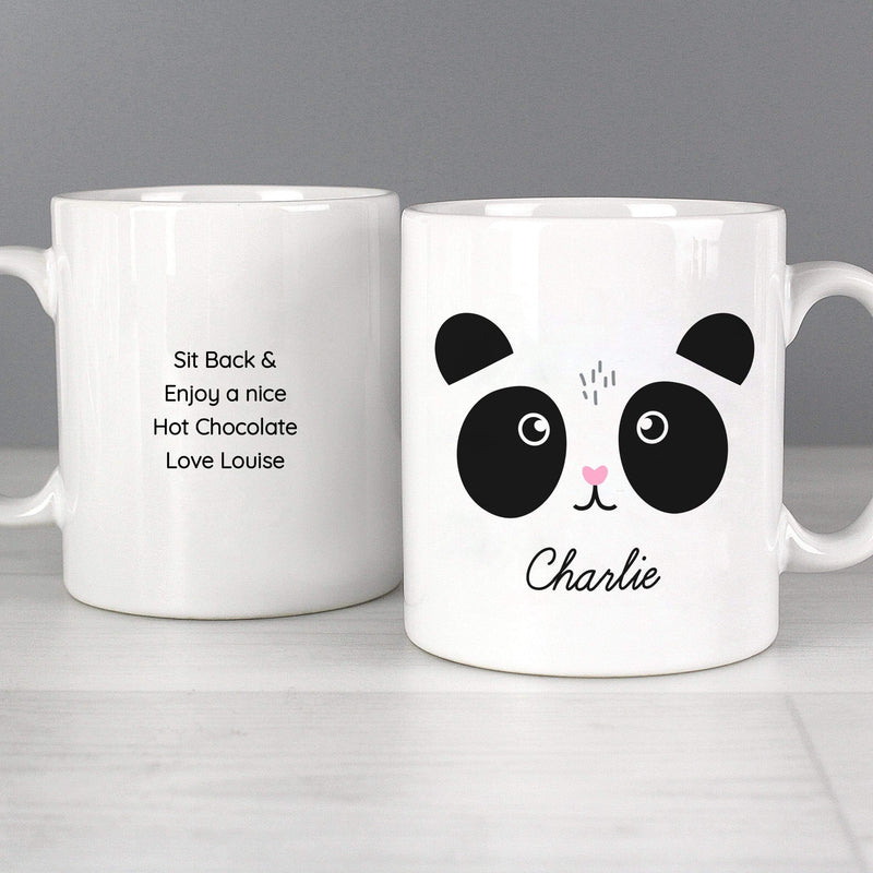 Personalised Cute Panda Face Mug - The Personal Shop