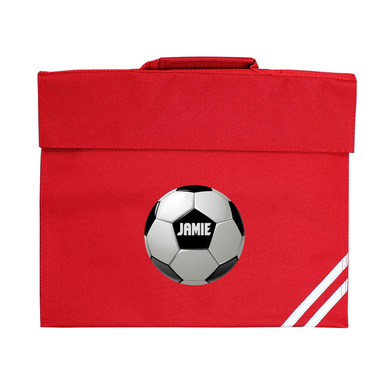 Personalised Football Red Book Bag - The Personal Shop