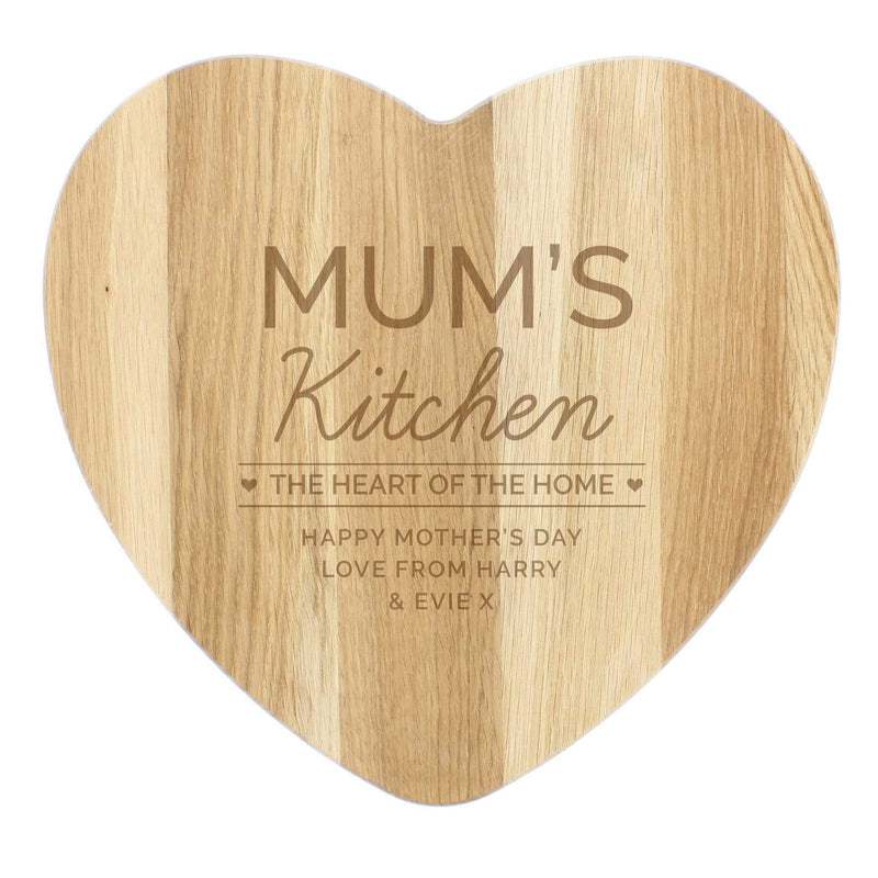 Personalised 'Heart of The Home' Wooden Chopping board - The Personal Shop