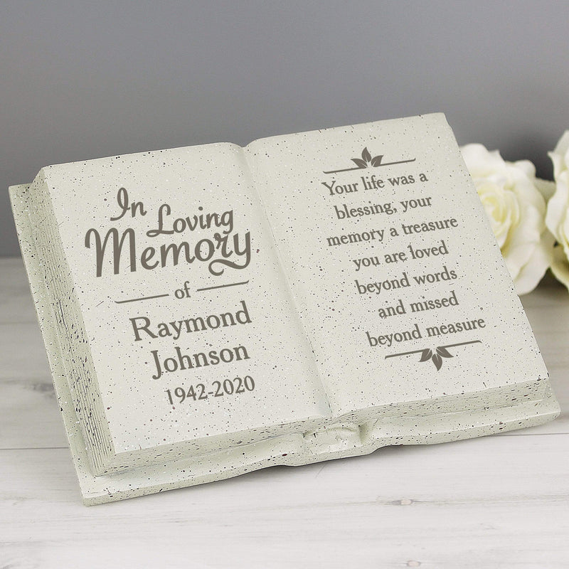 Personalised In Loving Memory Memorial Book - The Personal Shop