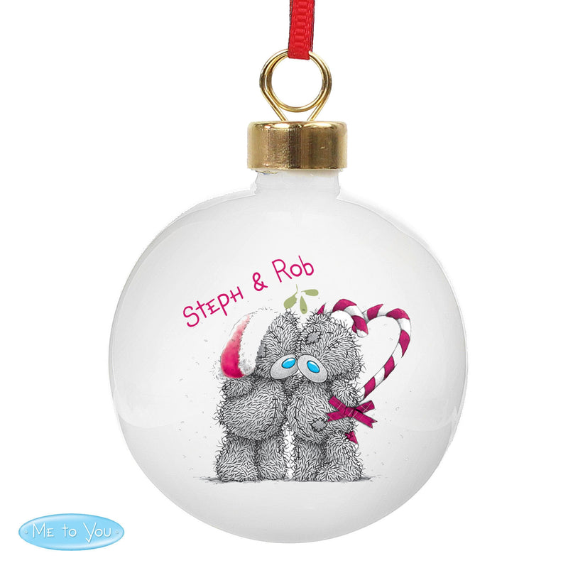 Personalised Me To You Couple Christmas Bauble - The Personal Shop