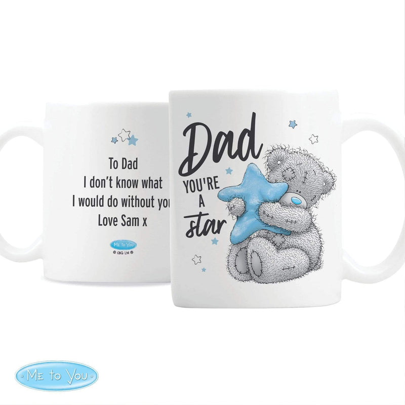 Personalised Me To You Dad Youre A Star Mug - The Personal Shop