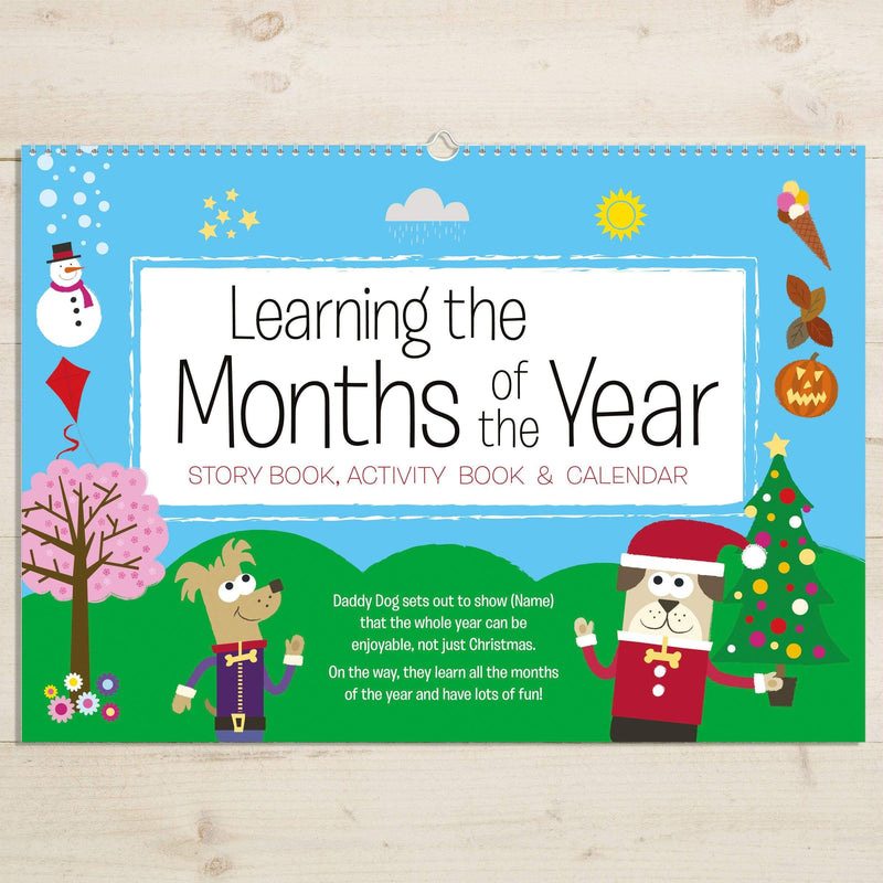 Personalised Months of the Year Activity Book - The Personal Shop