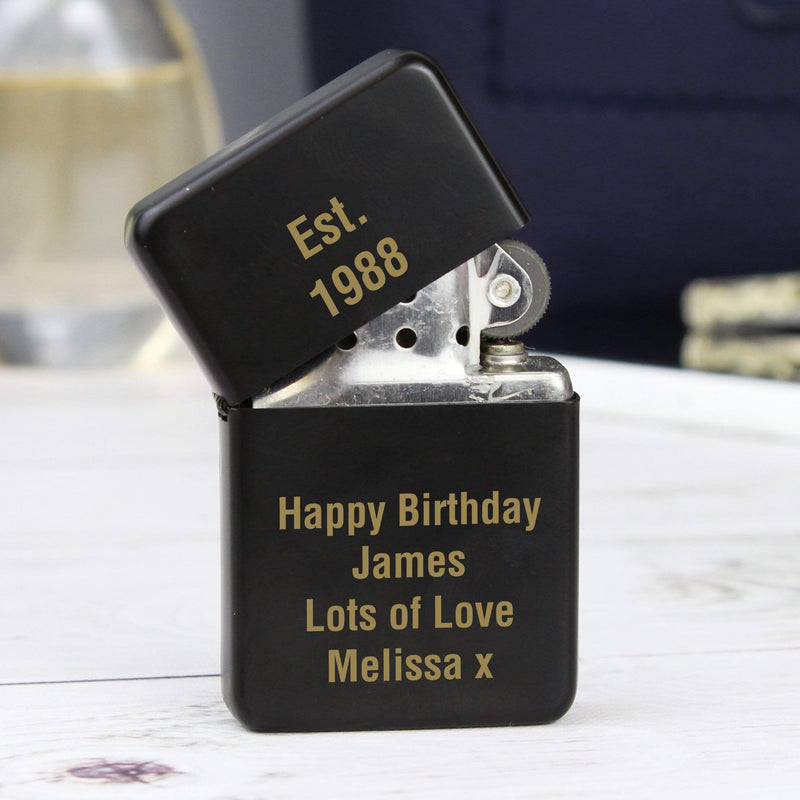 Personalised Black Lighter - The Personal Shop