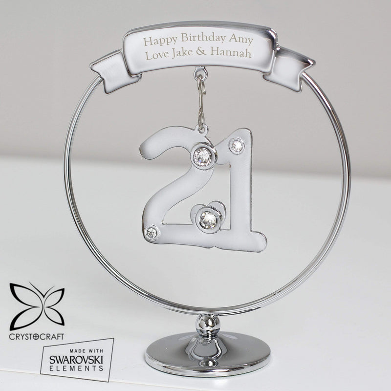 Personalised Crystocraft 21st Celebration Ornament - The Personal Shop