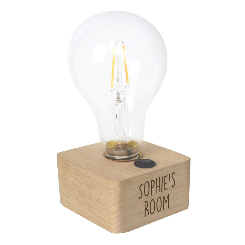 Personalised Free Text LED Bulb Table Lamp - The Personal Shop