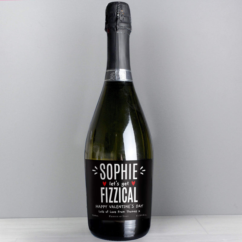 Personalised Let's Get FIZZICAL Prosecco - The Personal Shop