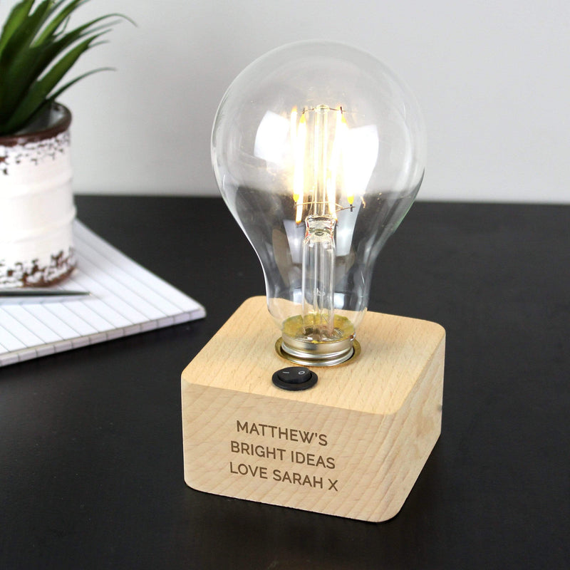 Personalised Message LED Bulb Table Lamp - The Personal Shop