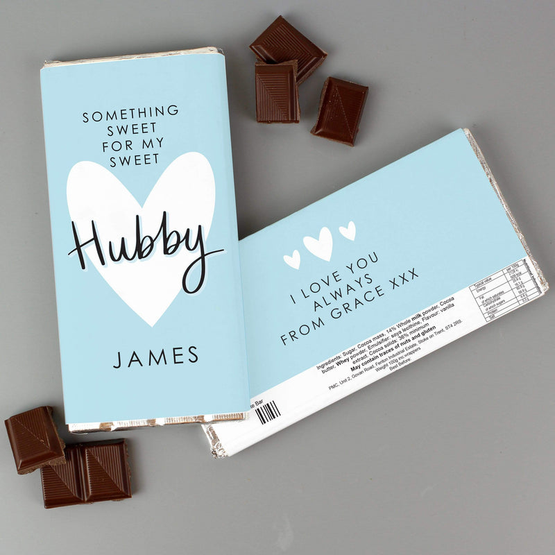 Personalised My Sweet Hubby Milk Chocolate Bar - The Personal Shop