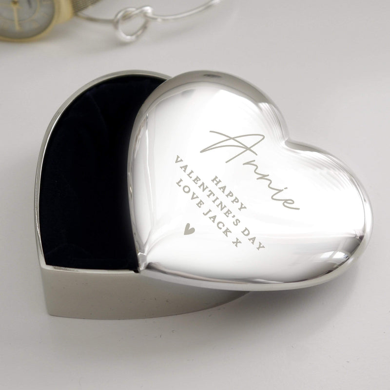 Personalised Name and Message Heart Trinket Box - The Personal Shop
