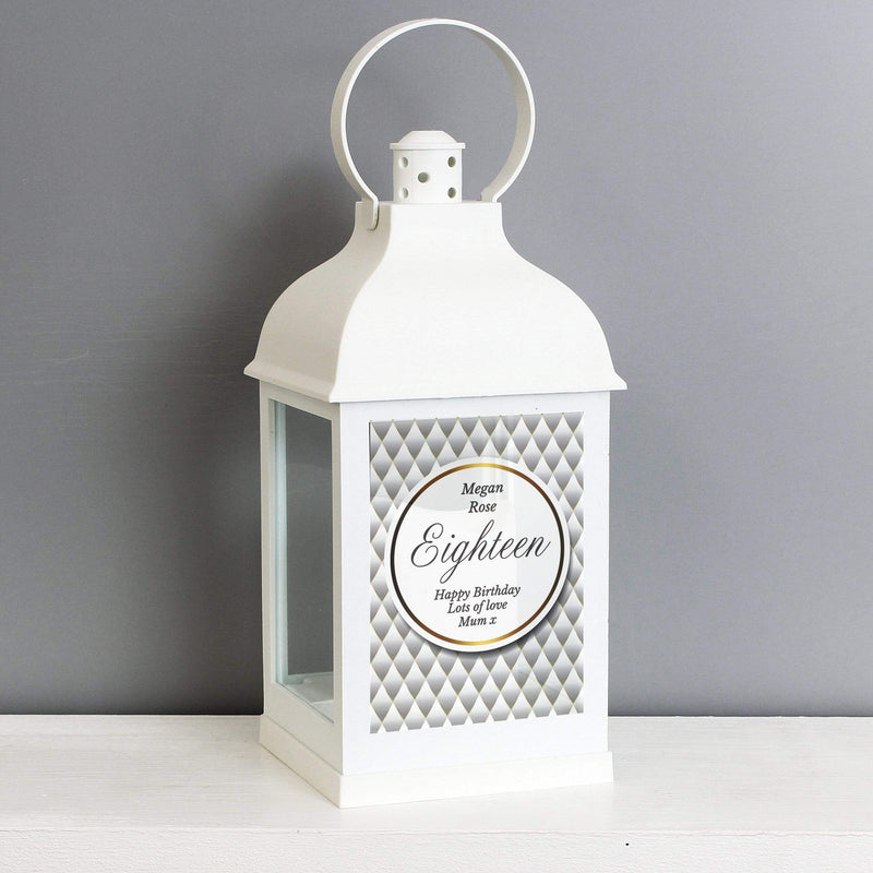 Personalised Opulent White Lantern - The Personal Shop