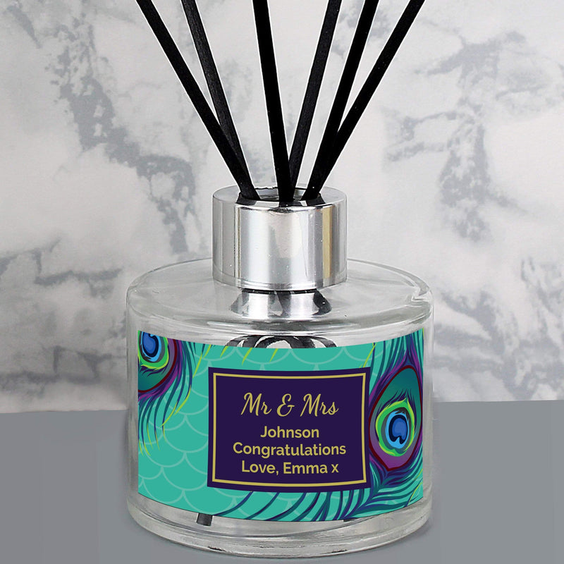 Personalised Peacock Reed Diffuser - The Personal Shop