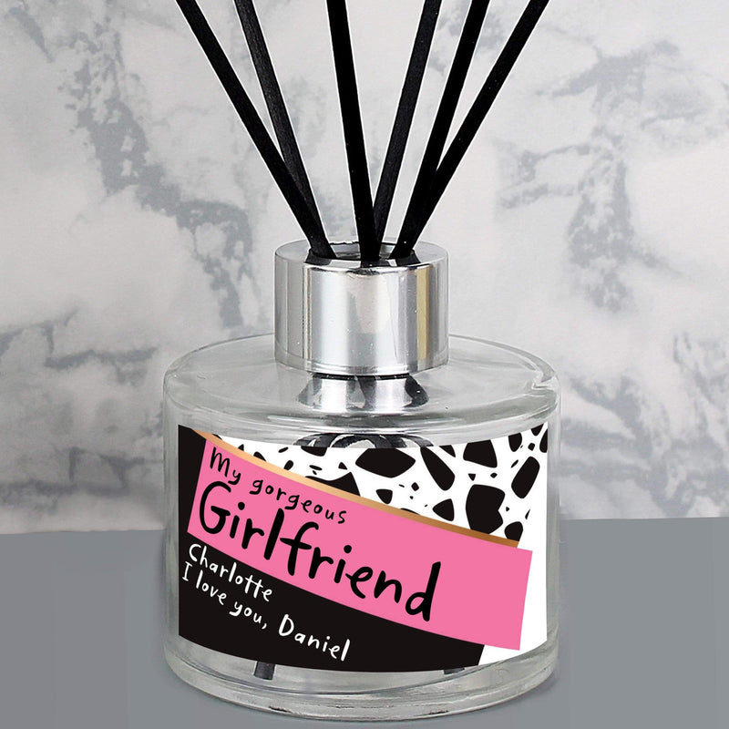 Personalised Pink & Black Reed Diffuser - The Personal Shop