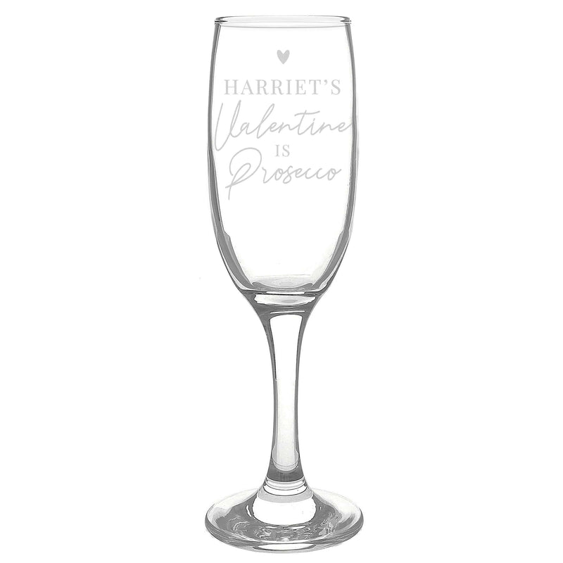 Personalised Prosecco is My Valentine Flute Glass - The Personal Shop