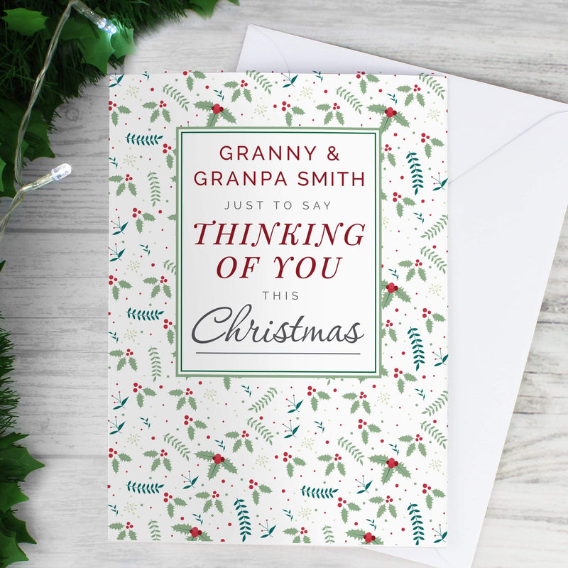 Personalised Thinking of You Christmas Card - The Personal Shop
