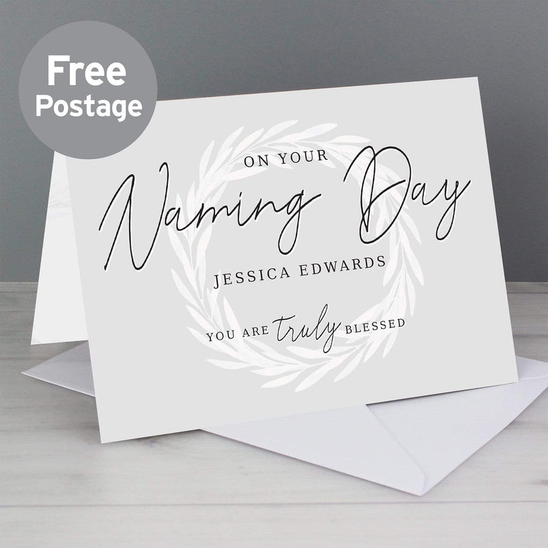 Personalised Truly Blessed Naming Day Card - The Personal Shop