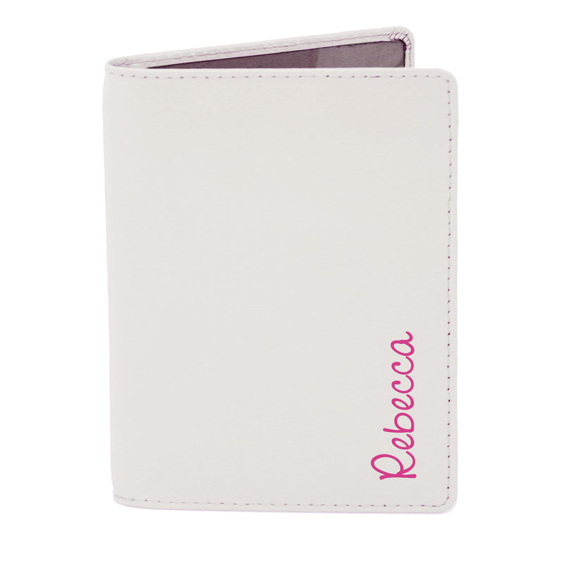 Personalised Pink Name Island Cream Passport Holder - The Personal Shop