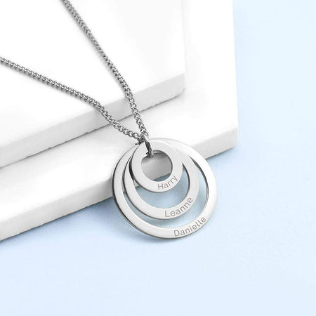 Personalised Rings Of Love Necklace - The Personal Shop