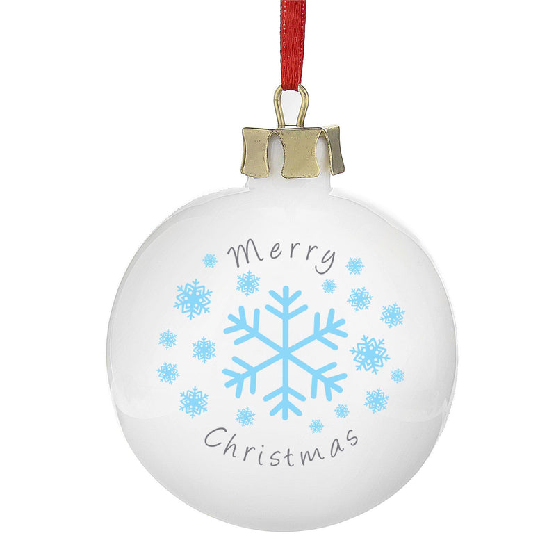 Personalised Snowflakes Bauble - The Personal Shop