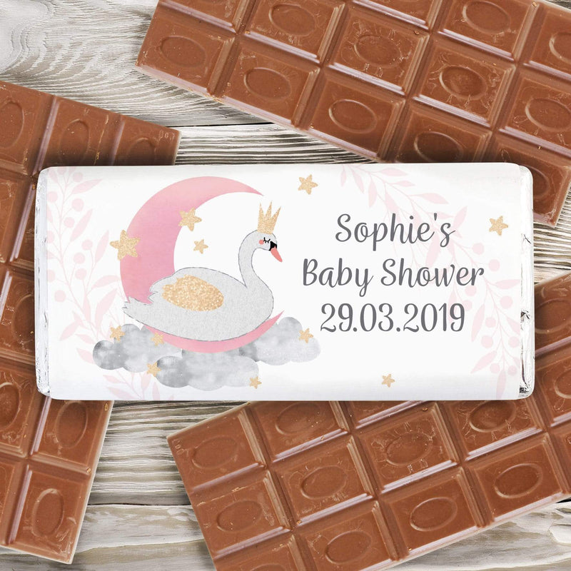 Personalised Swan Lake Milk Chocolate Bar - The Personal Shop