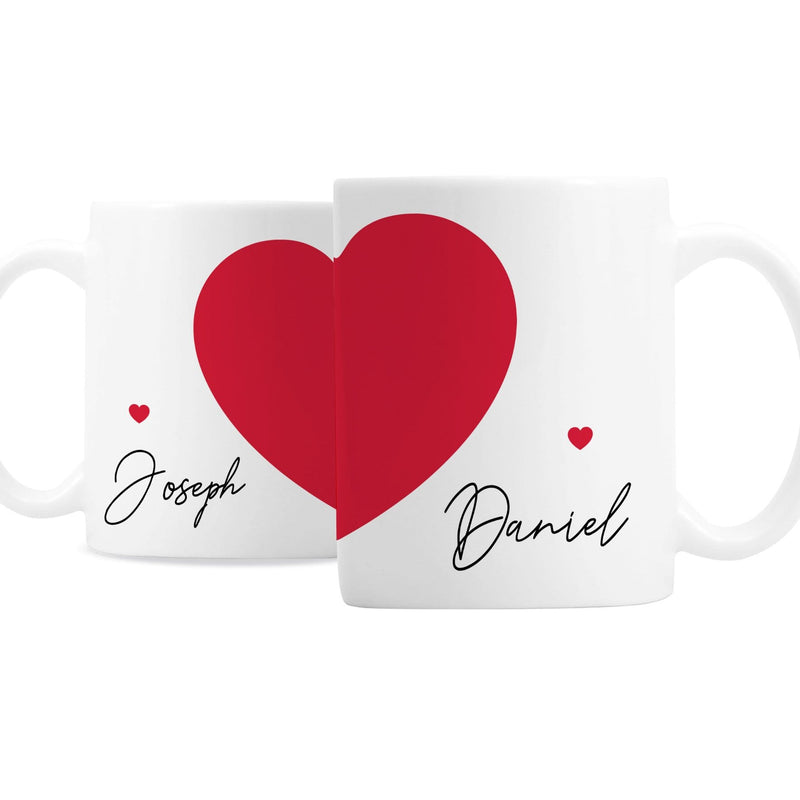 Personalised Two Hearts Mug Set - The Personal Shop