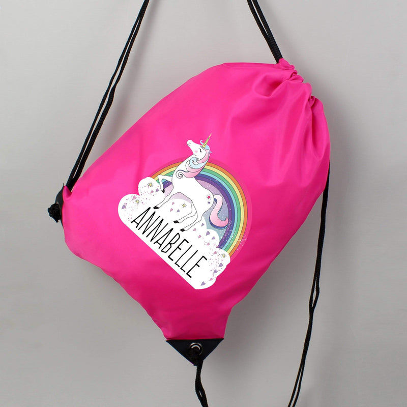 Personalised Unicorn Pink Kit Bag - The Personal Shop