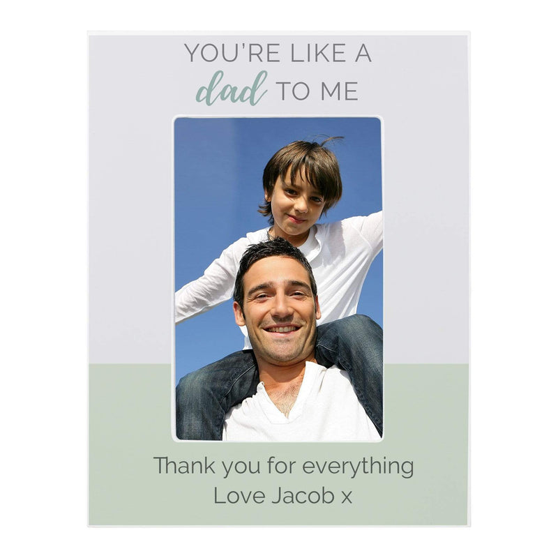 "Personalised """"You're Like a Dad to Me"""" 6x4 Wooden Photo Frame - The Personal Shop"