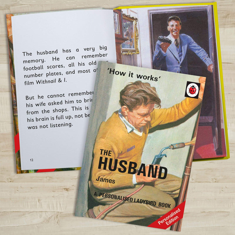 The Husband: A Ladybird Personalised Book - The Personal Shop