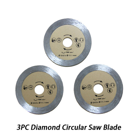 54.8x11.1mm Diamond Circular Saw Blades Wood Cutting for Dremel Rotary Tool - 3Pack