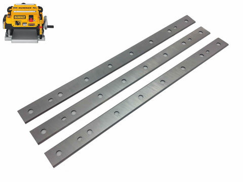 13-Inch Replacement Planer Blade for DeWalt DW735, DW735X, Replace DW7352 - Set of 3