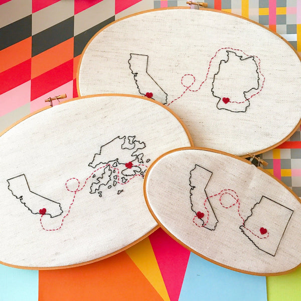 Connection - State to State Cross Stitch