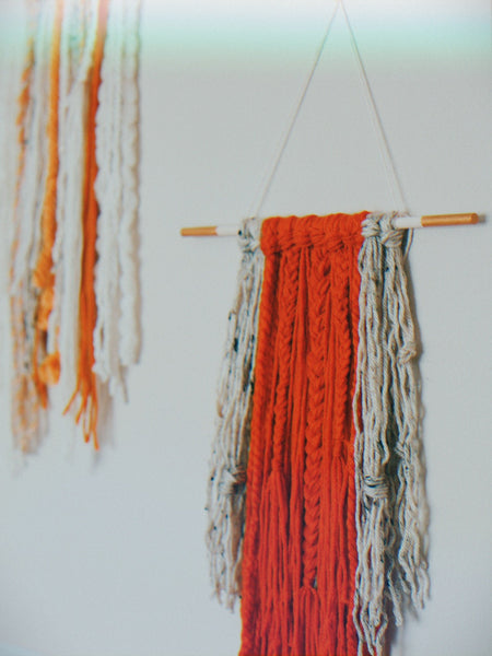 Mini Orange Wall Hanging