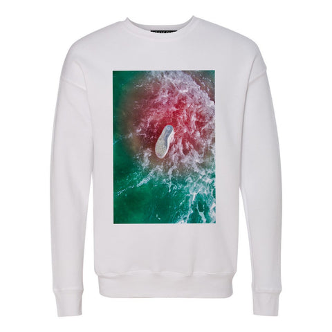 Blood in the Water Crew Sweatshirt - Patient Shark