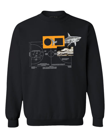 "Division Line ""Full Court"" Crew Sweatshirt - Patient Shark"