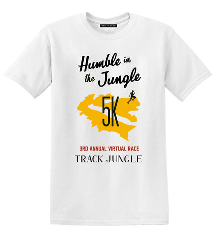 Humble in the Jungle 5K Race Tee - Pearl - Patient Shark