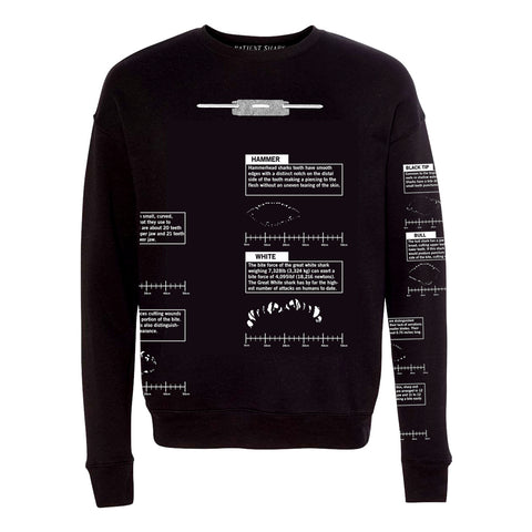 Bite Chart Sweatshirt, Black