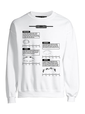 Bite Chart Sweatshirt, White