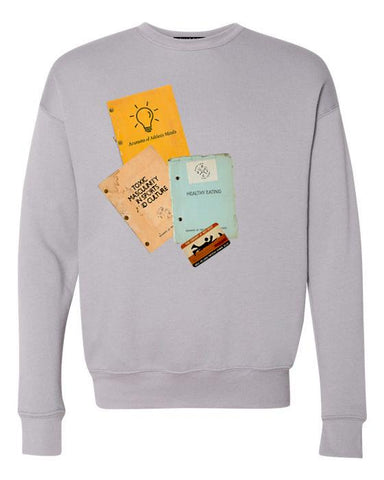 Key Rest Library Book Sweatshirt, Health & Fitness Section - Patient Shark