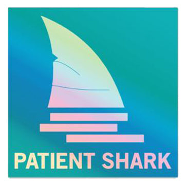 Patient Shark Hero Sticker - Holographic Blue
