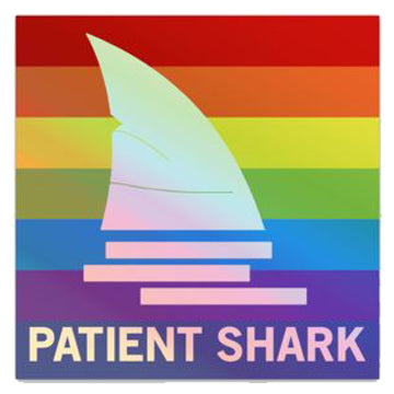 Patient Shark Hero Sticker - Holographic Rainbow