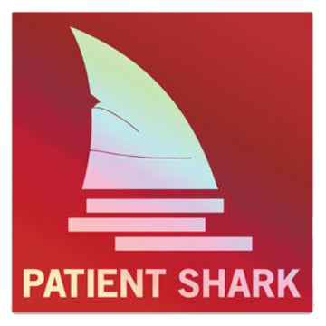 Patient Shark Hero Sticker - Holographic Red