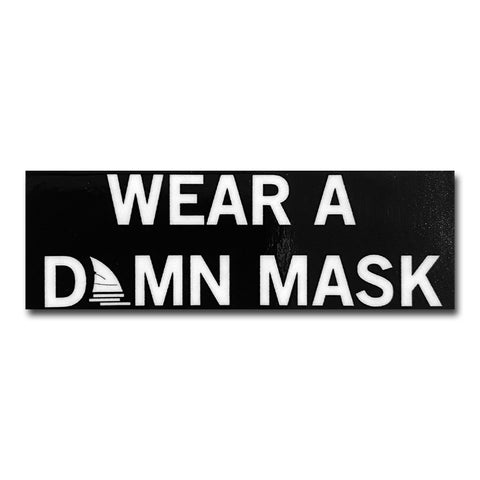 Wear a Damn Mask Fin Logo Sticker - Patient Shark