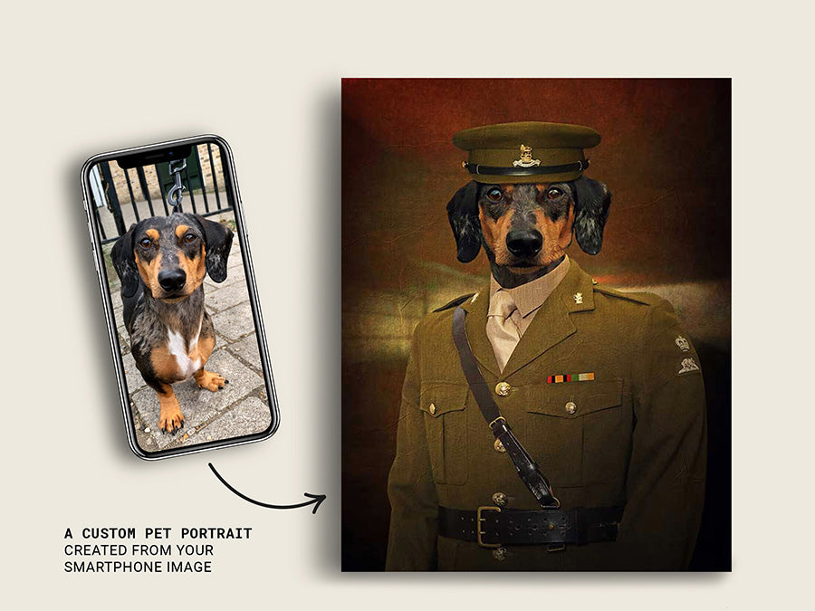 Blackadder Pet Portraits Custom Dog Canvas Prints