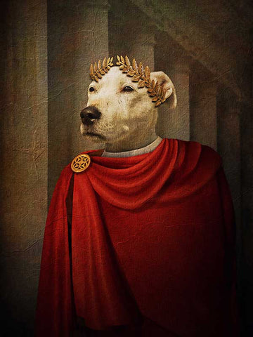 Julius Caesar, Pet Portraits, Personalised Custom Pet Canvas, Renaissance Dog Art