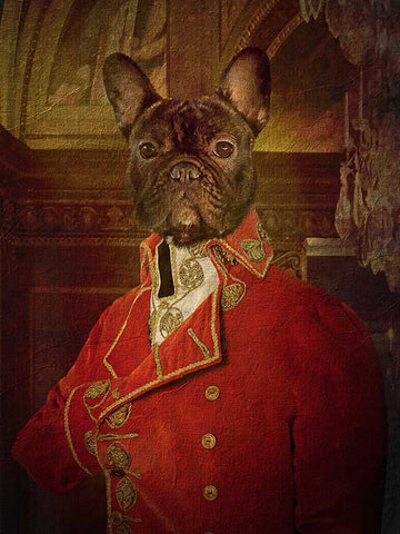 Napoleon Bonaparte, Pet Portraits, Personalised Custom Pet Canvas, Renaissance Dog Art